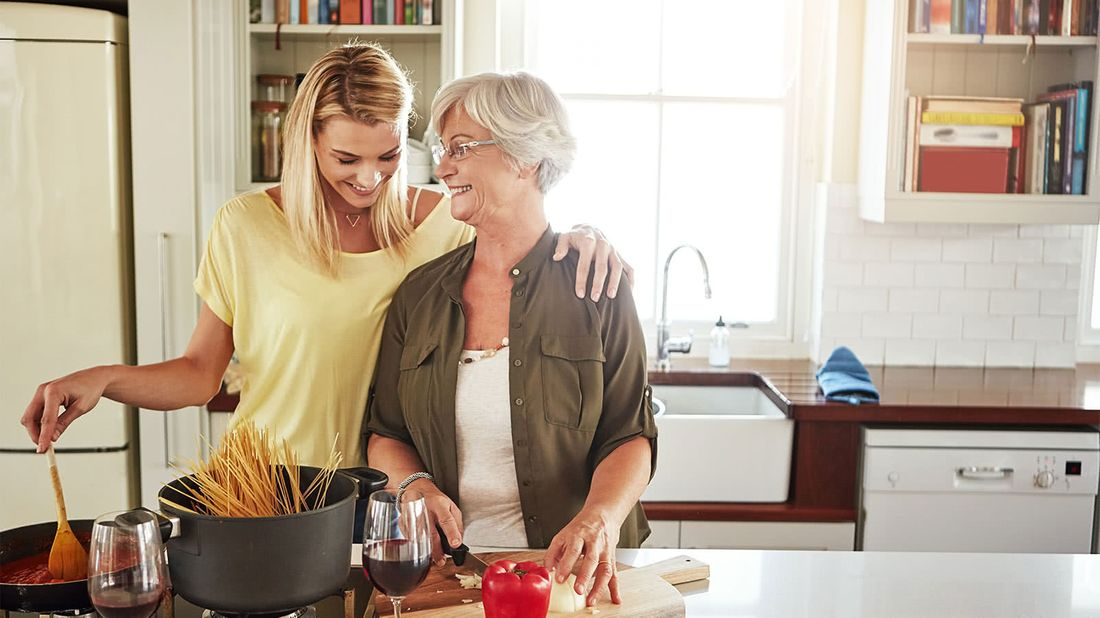 How to enlist sibling help when caring for a parent daughter and mom cooking