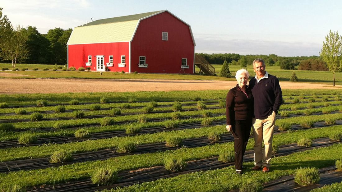 Retired couple on their lavender farm they started after retiring