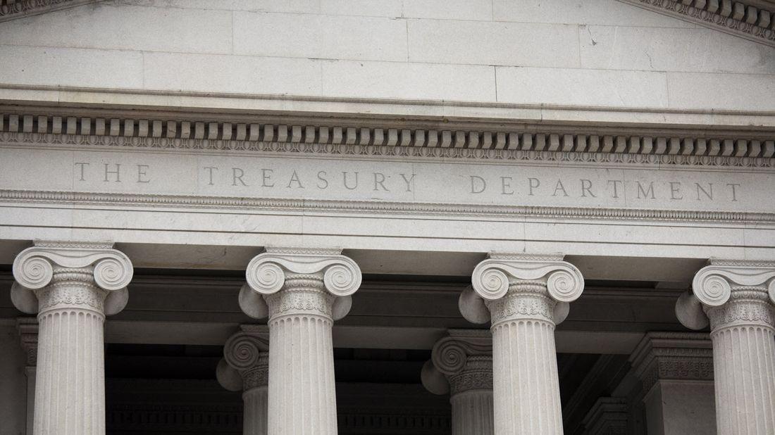 The U.S. Treasury building