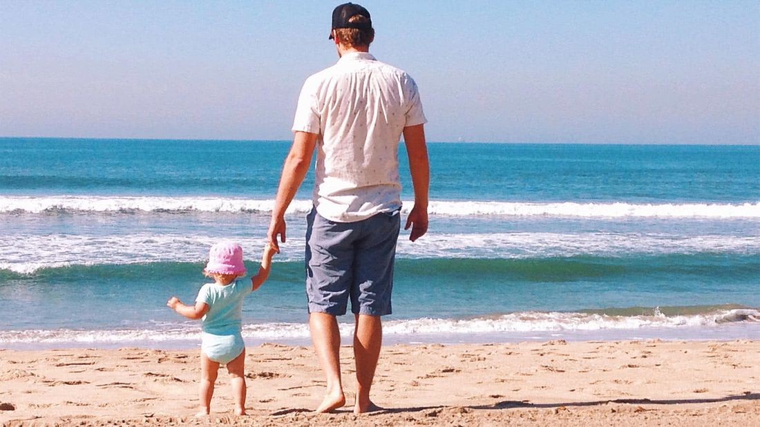 What is a 529 plan dad and toddler on the beach