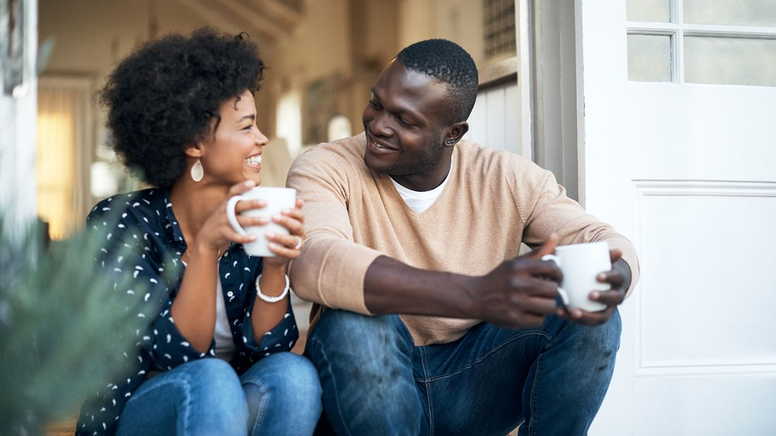 couple discussing their finances together