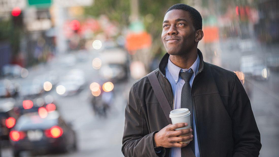 man contemplating a career change
