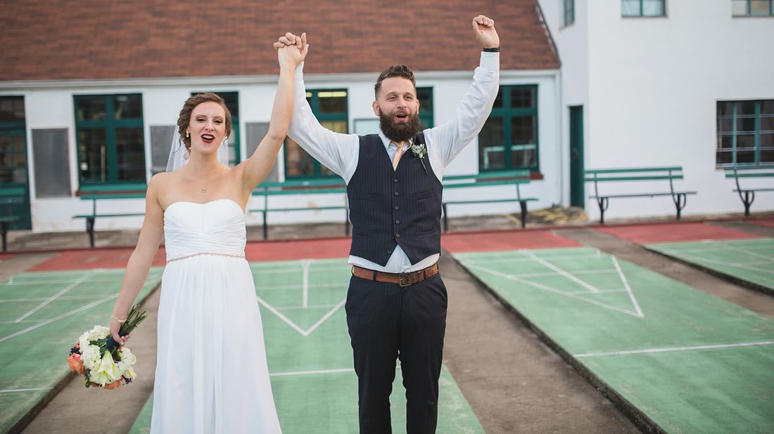 Newlyweds who paid off $78k of debt at their wedding