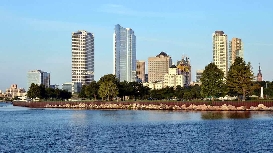 Top 10 cities with homeownership growth Milwaukee skyline