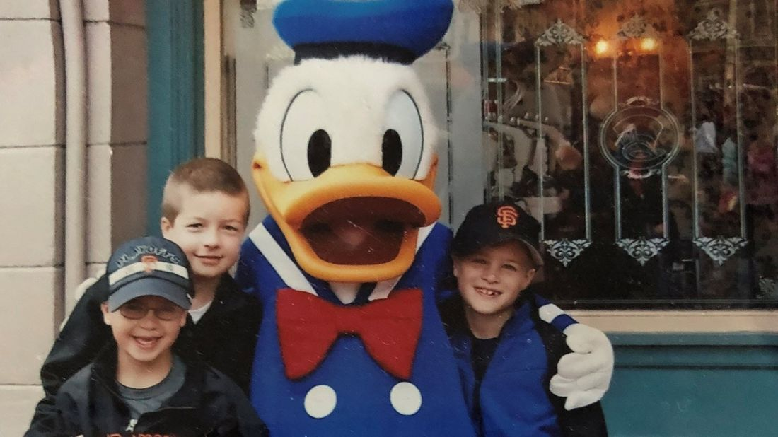 Cathie Ericson's children enjoying their trip to Disneyland.
