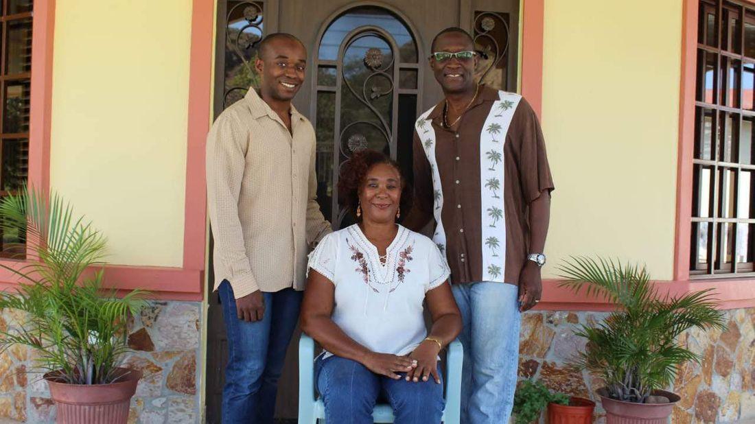 Financial Advisor DeAndre Coke with his parents.