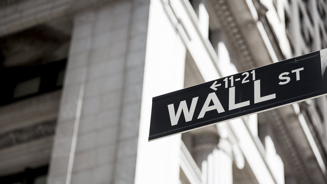 The Wall Street street sign in New York City