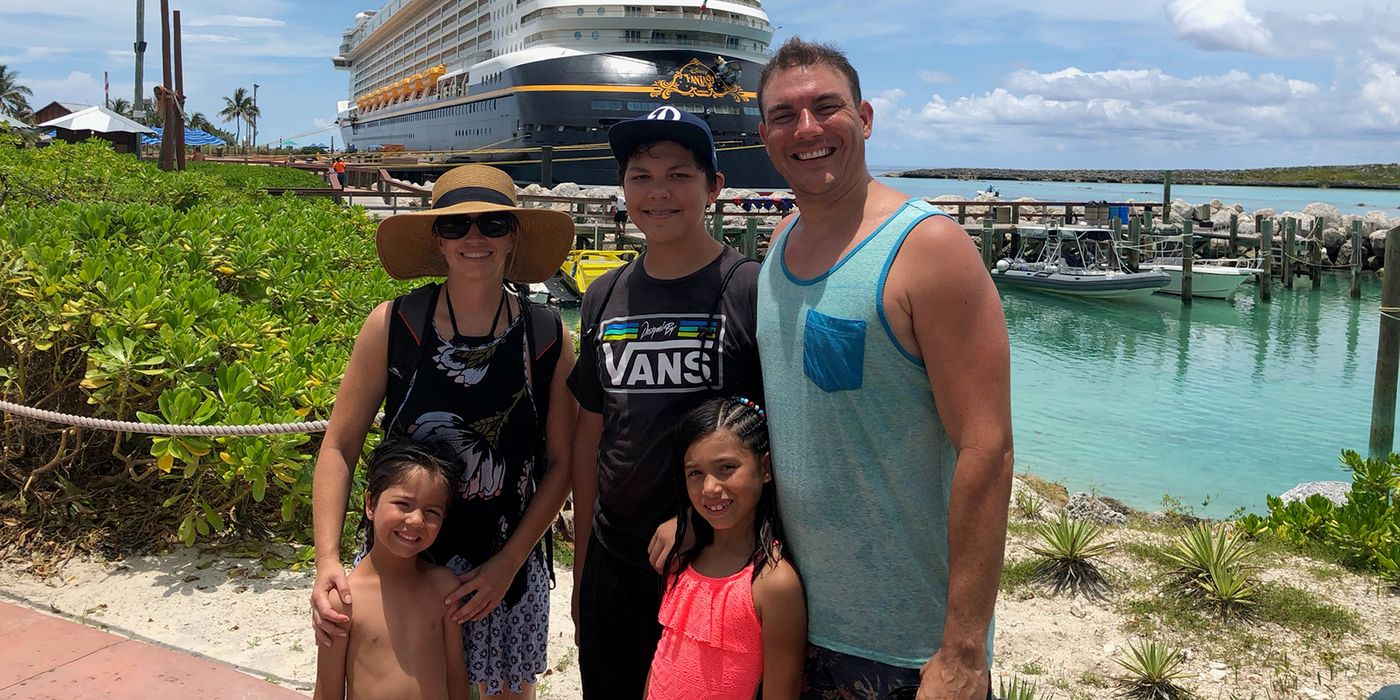 Erik Gomez and family on vacation together.