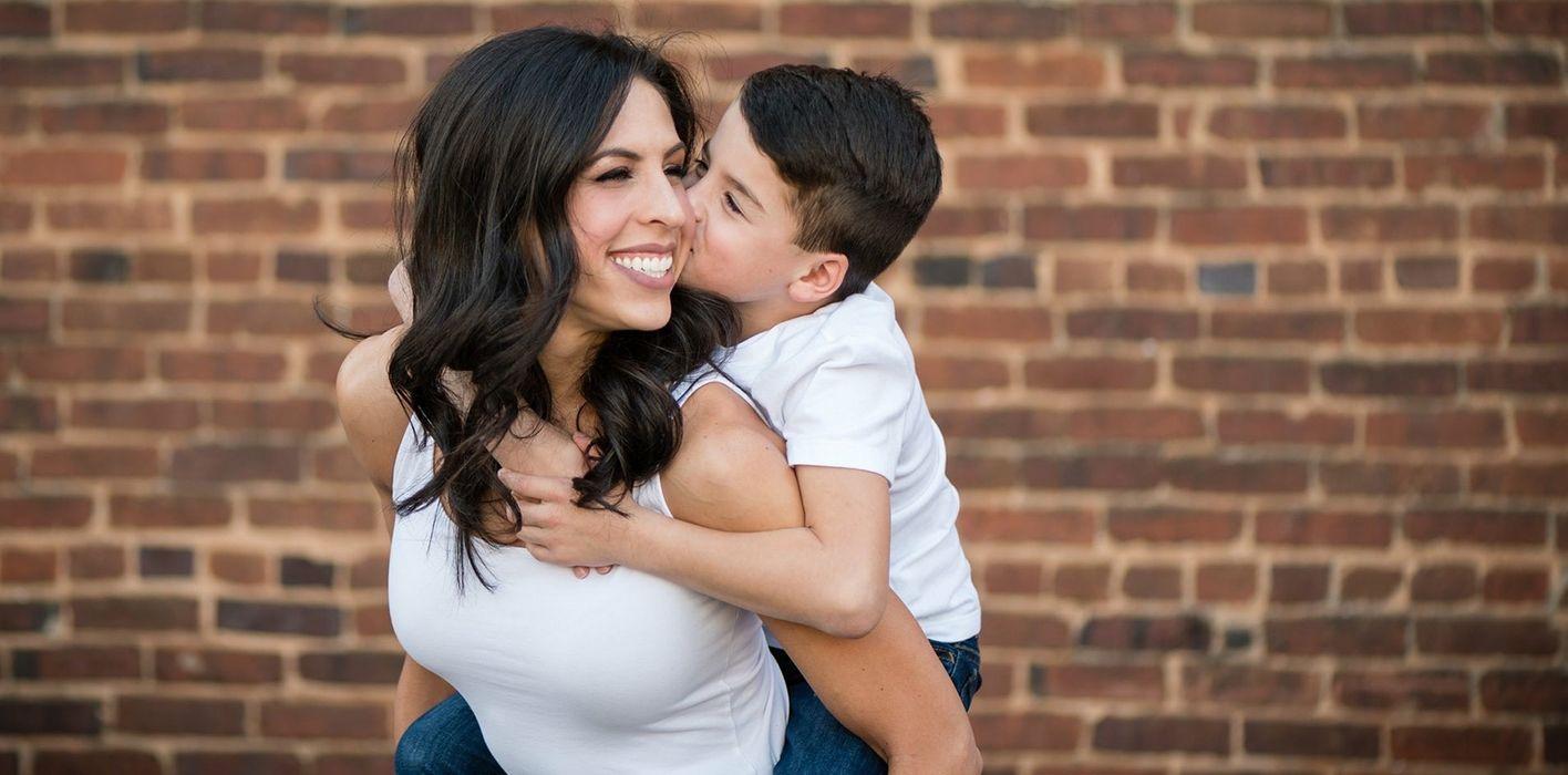 Financial advisor Kasey Gartner and her son.