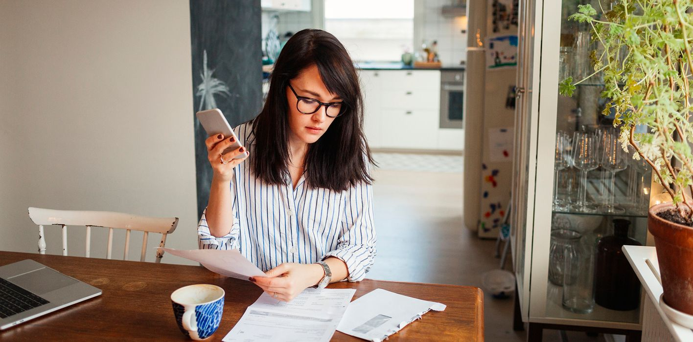 Woman doing budgeting and financial planning