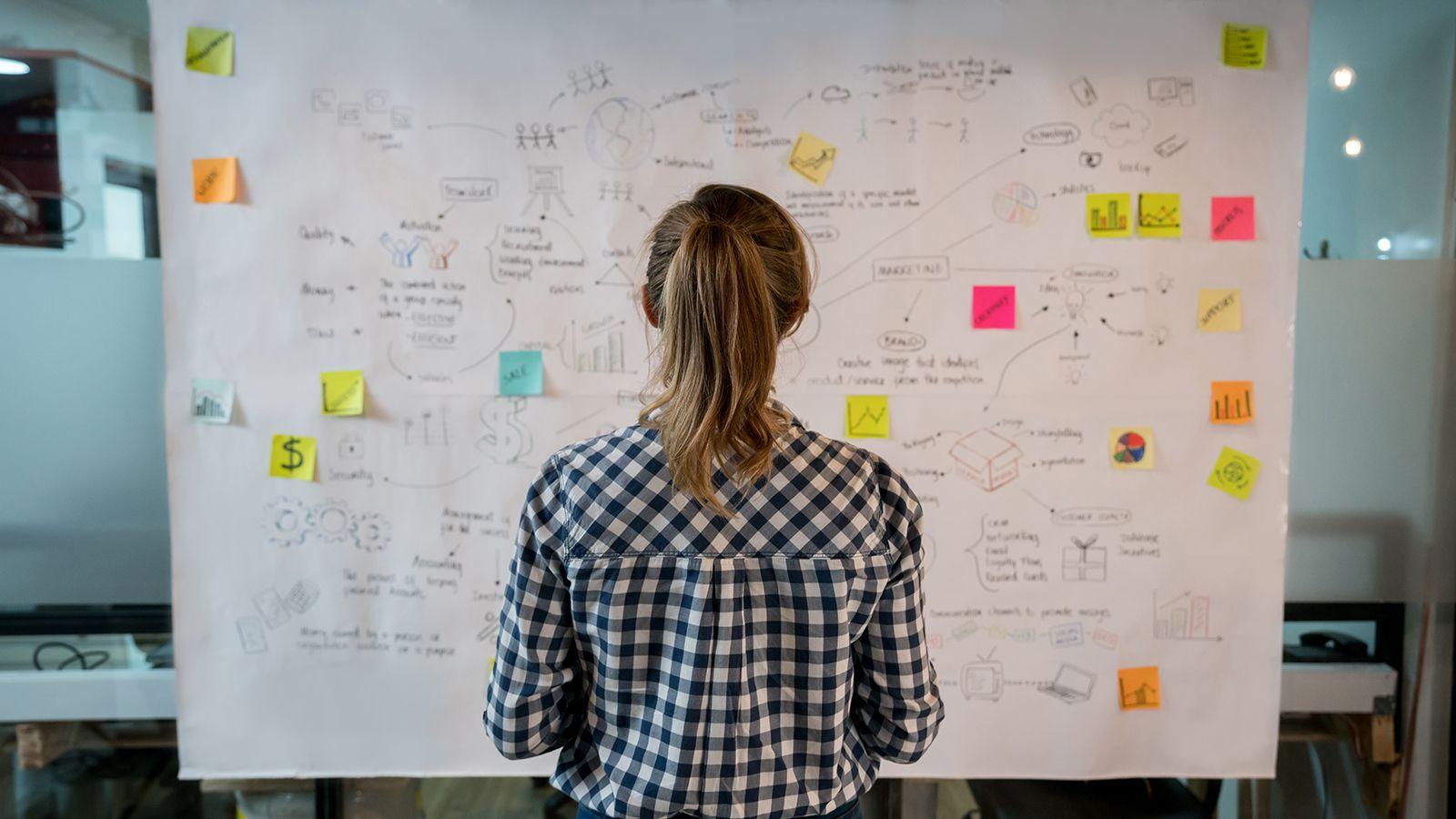 woman strategizing passion project
