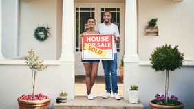 Couple who bought first home