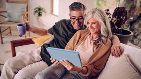 couple looking over Social Security benefits