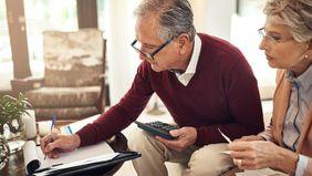 Older couple emotionally preparing for retirement