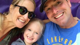 Financial advisor Brian Eder and his family