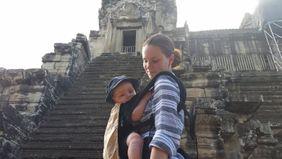 Woman and baby in Bangkok fulfilling an entrepreneurial dream