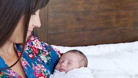 Natasha Burton and her baby.