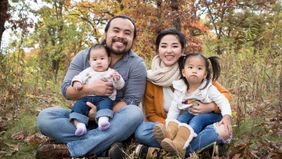 Touger and Mykou Thao with their children.