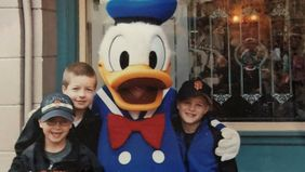 Cathie Ericson's children enjoying their trip to Disneyland.