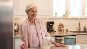 Barbara Tidwell with the sourdough starter that has been in her family for generations.