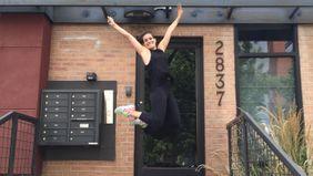 Meghan Lawler outside of Denver apartment