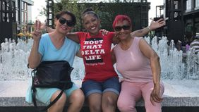 Financial Advisor Roberta Fitzgerald with her mom and mother-in-law.