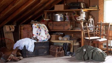 Attic filled with junk that could be turned into cash