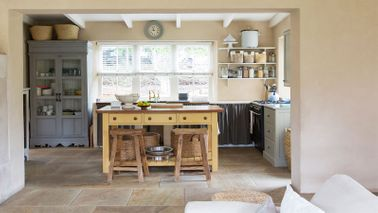 A rustic themed kitchen is a home renovation idea that adds value