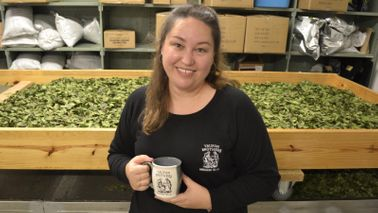 Yaupon Tea co-owner and COO Shelly Steele at Yaupon Brothers American Tea Company