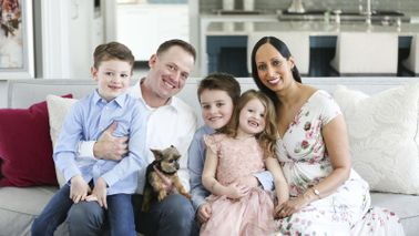 Northwestern Mutual wealth management advisor Monica Sinha and family