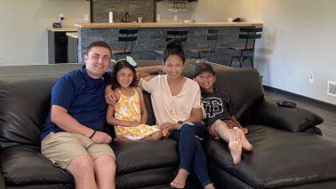 Sara and Jason Eickhoff and their children