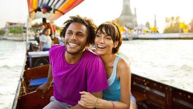 couple on gondola creating travel budget