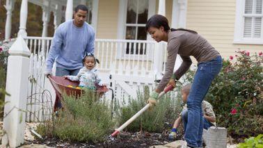 family gardening together September Buy Skip