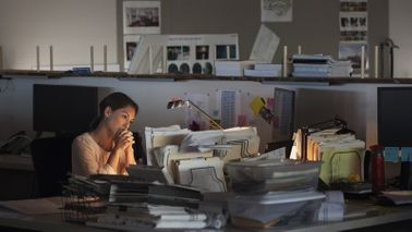 Woman working more than her coworkers with kids