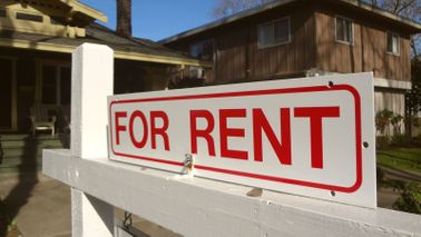 For rent sign in front of property