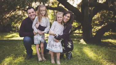 Marianne Hayes with her family.