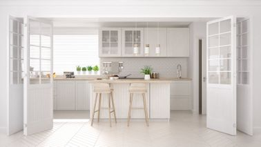 A Scandinavian kitchen with white accents