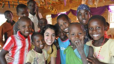 Cindy Arocho on a mission trip in Mozambique, Africa.