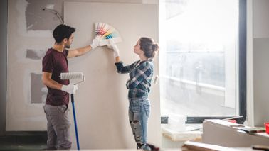 A young couple renovates when interest rates fall