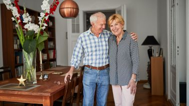 Couple discussing a retirement plan for living longer.