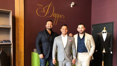 Juan Padilla, Ulises Ruelas, Ricardo Perez at the dapper club.