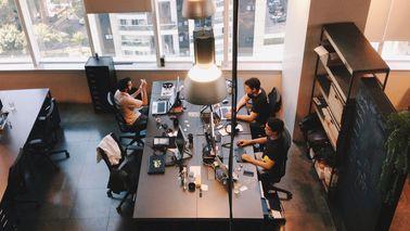 employees working at startup