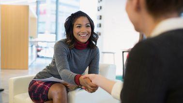 woman negotiating job offer
