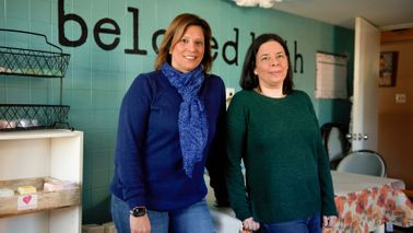 Beloved Bath owners Pat Miller (left) and Pam Kattouf (right).