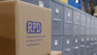 The warehouse at RPD headquarters in Greenwood, Indiana.
