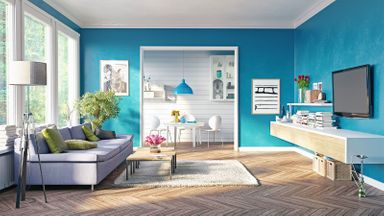 Is it better to rent or buy blue home interior