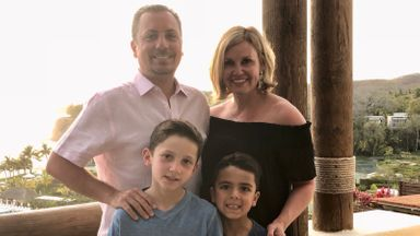 Tom Canale with his family.