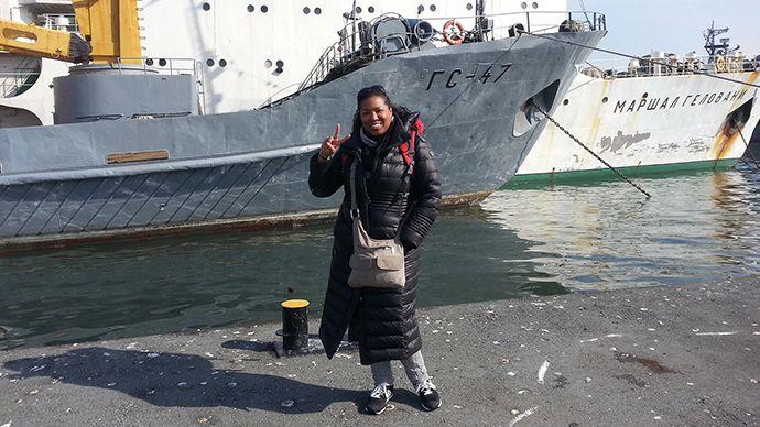 Simone Arthur traveling abroad