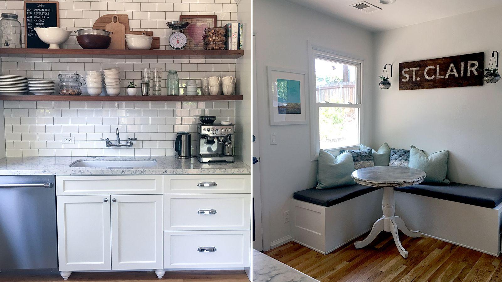Natasha's renovated kitchen and dining space