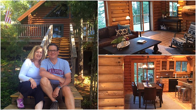 Pat and Geri Ann Steider at their cabin